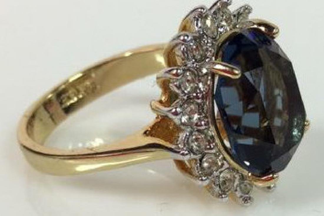 18 K Gold Plated Ring W Rhinestones - 3