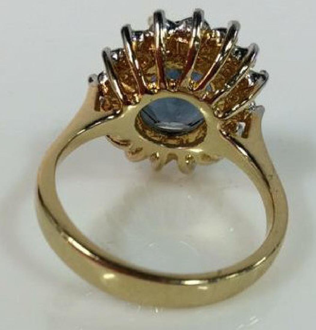 18 K Gold Plated Ring W Rhinestones - 4