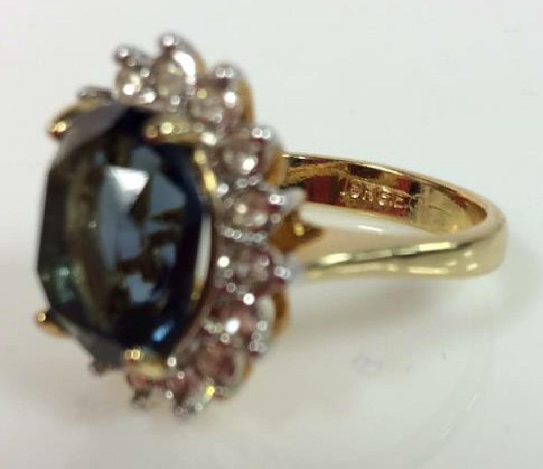 18 K Gold Plated Ring W Rhinestones - 5