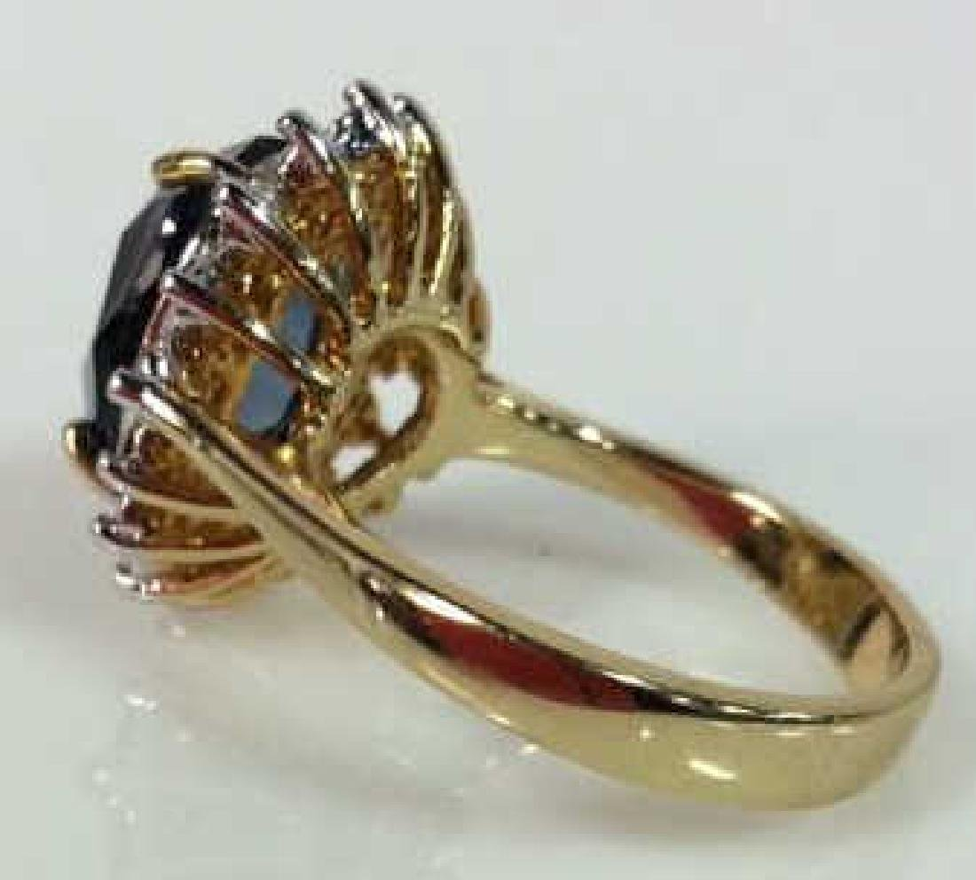 18 K Gold Plated Ring W Rhinestones - 6