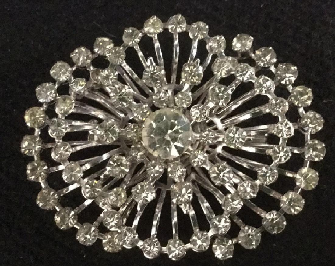 Lot 4 Estate Costume Jewelry Rhinestone Brooches - 4