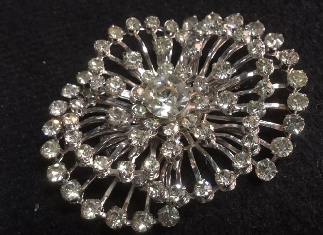 Lot 4 Estate Costume Jewelry Rhinestone Brooches - 5