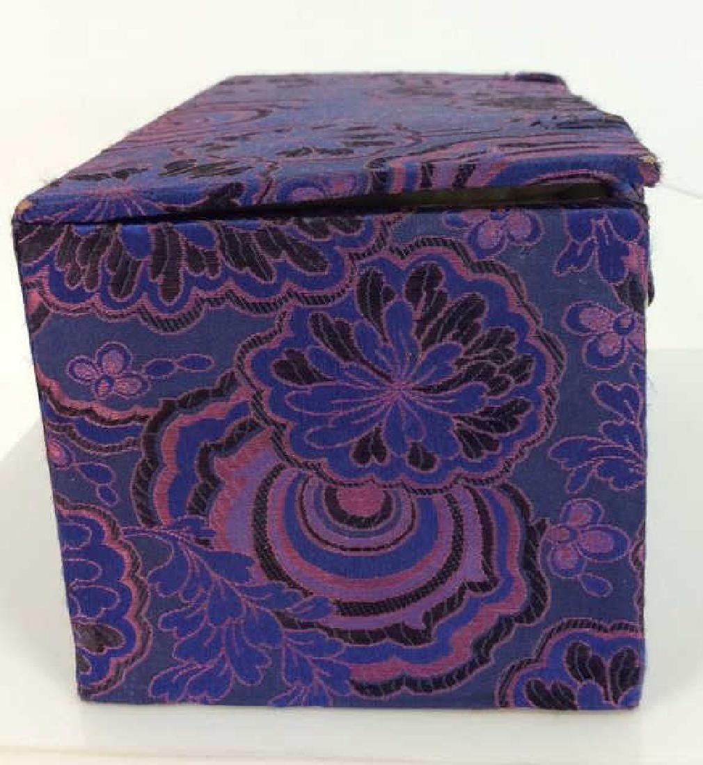 Orientalist Style Floral Embroidered Box - 2