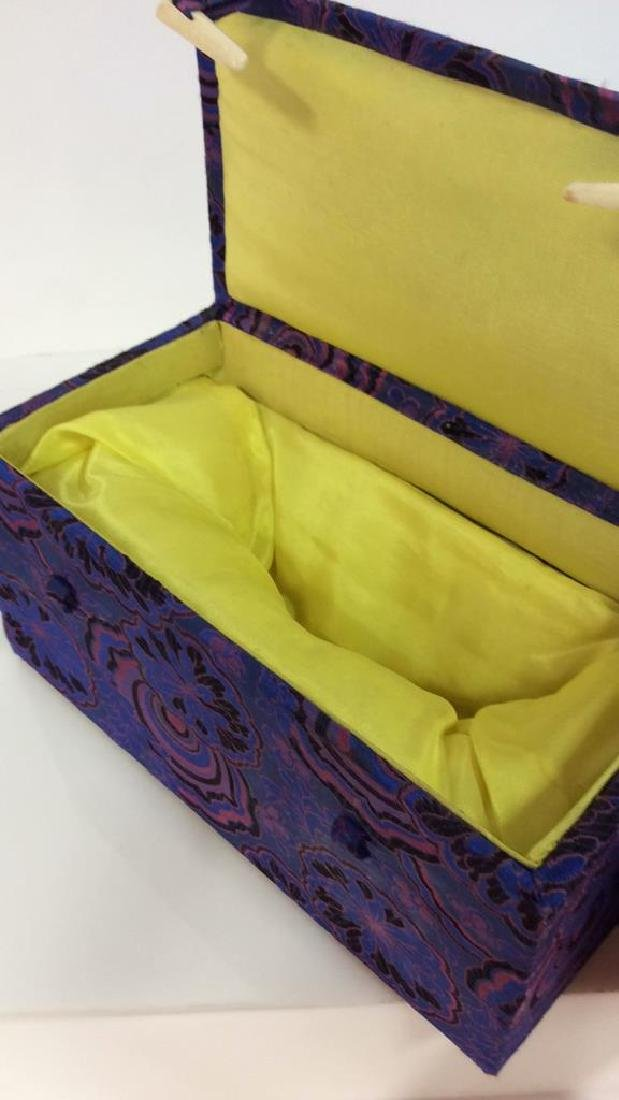 Orientalist Style Floral Embroidered Box - 5