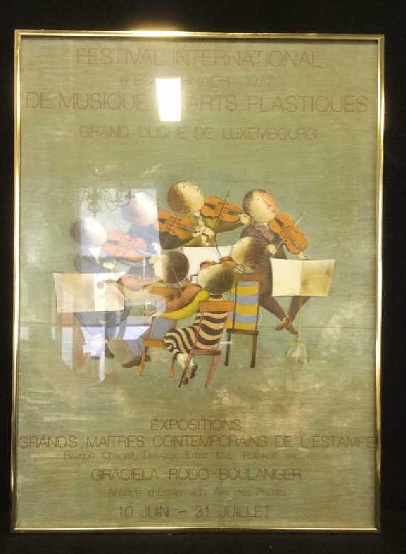 FESTIVAL INTERNATIONAL Framed Artwork