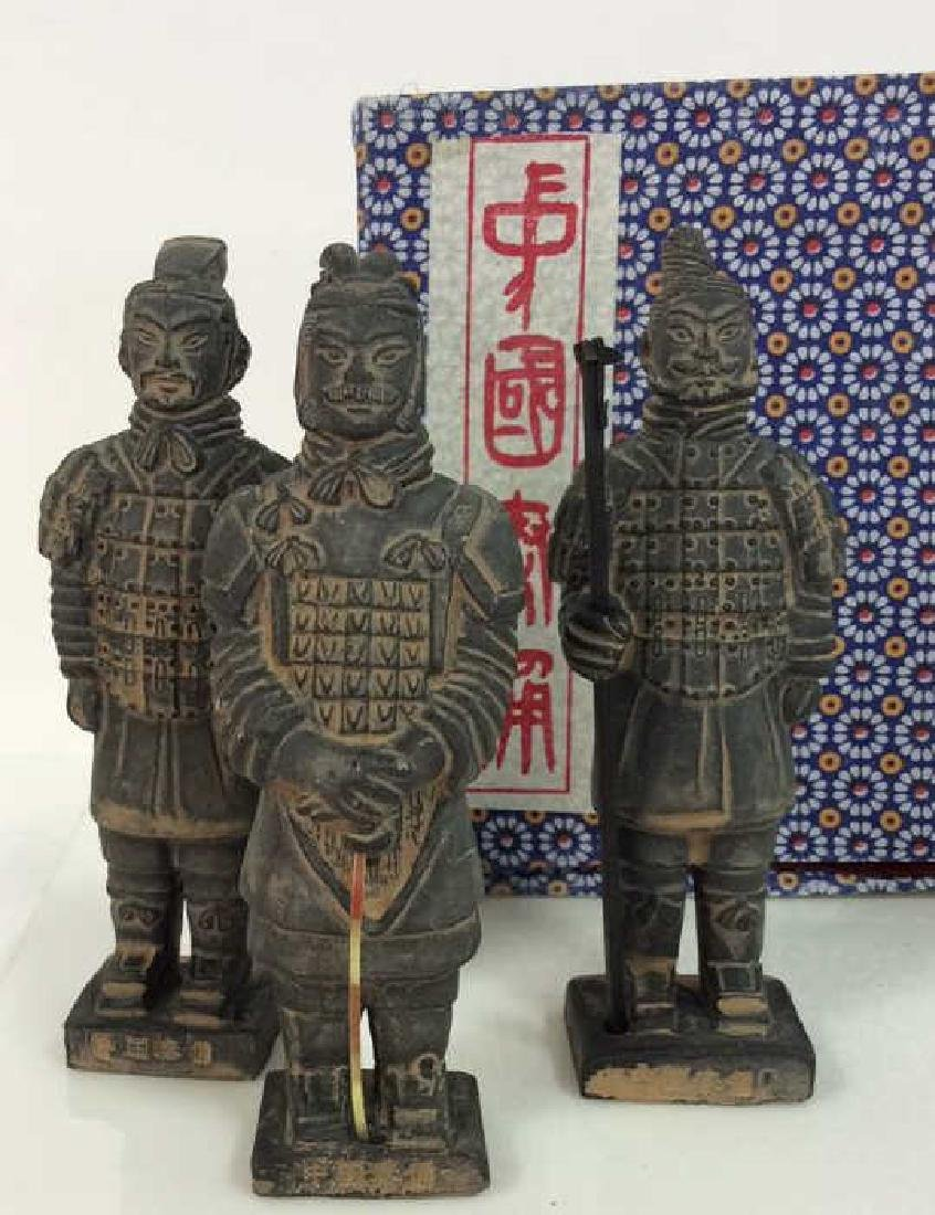 Set 3 Chinese Terra Cotta Soldiers Figurines