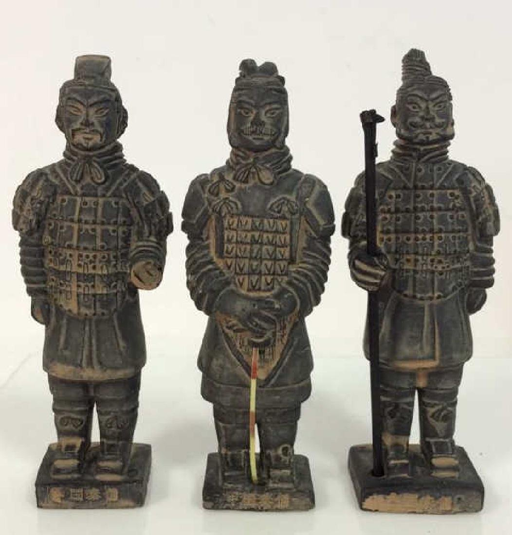 Set 3 Chinese Terra Cotta Soldiers Figurines - 2