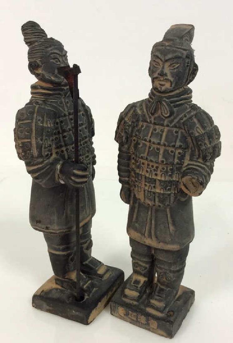 Set 3 Chinese Terra Cotta Soldiers Figurines - 3