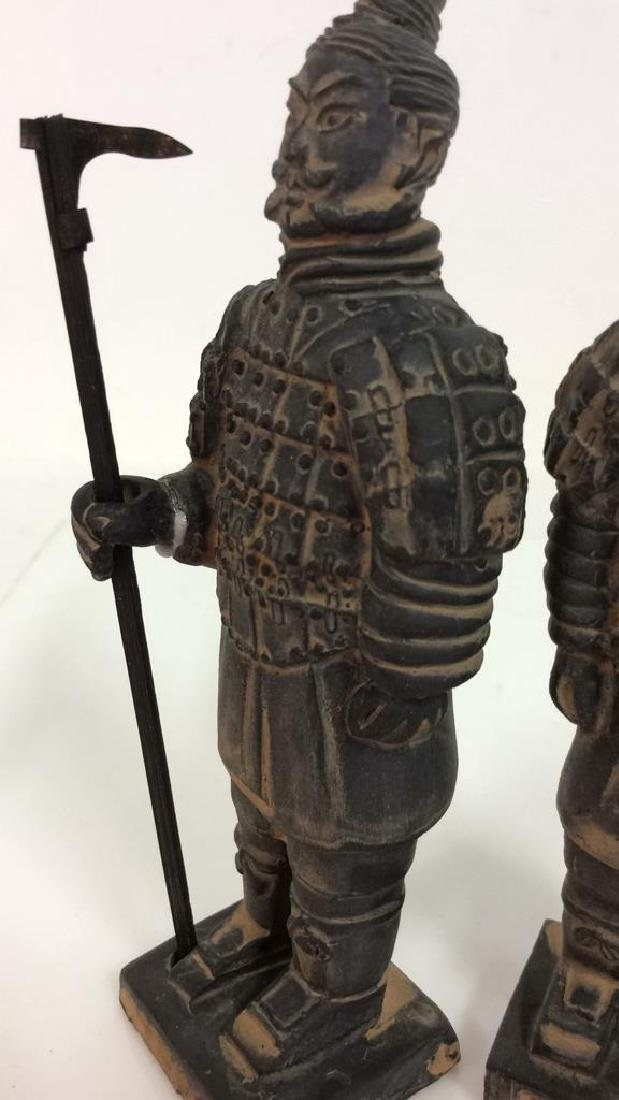 Set 3 Chinese Terra Cotta Soldiers Figurines - 4