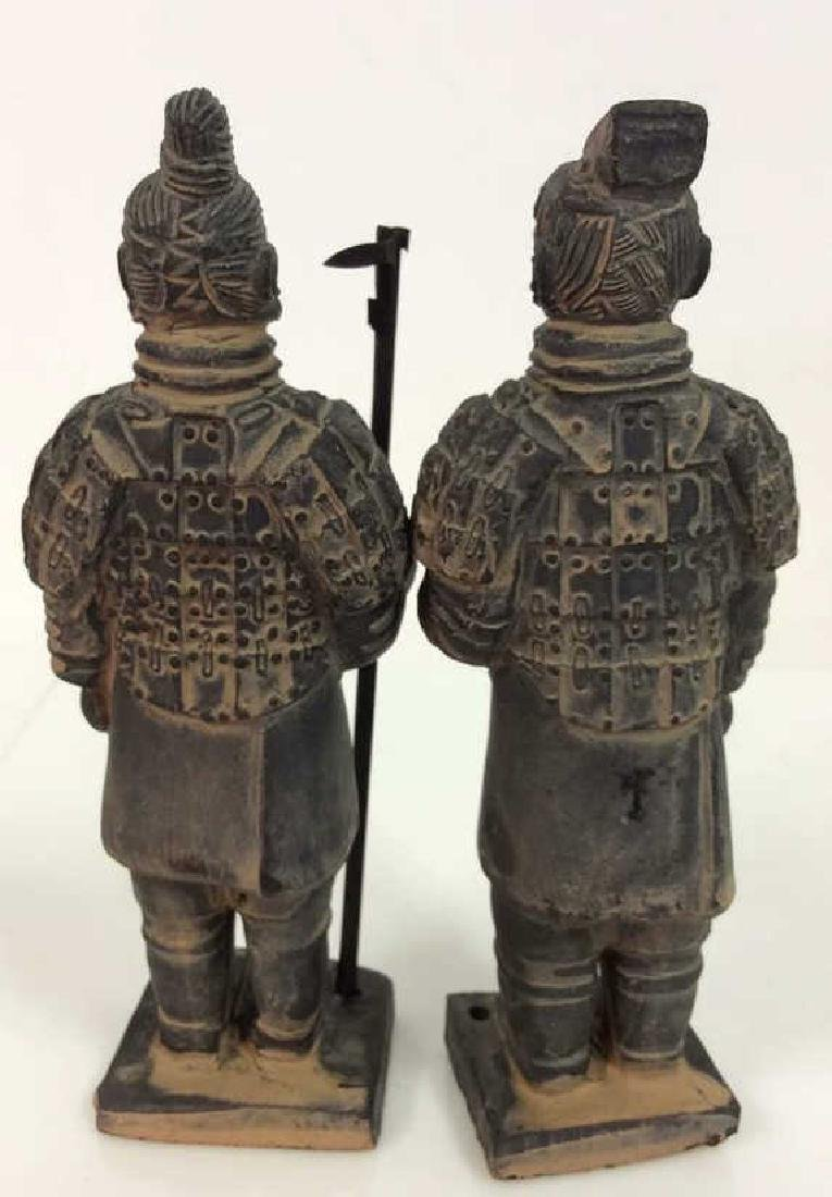 Set 3 Chinese Terra Cotta Soldiers Figurines - 5