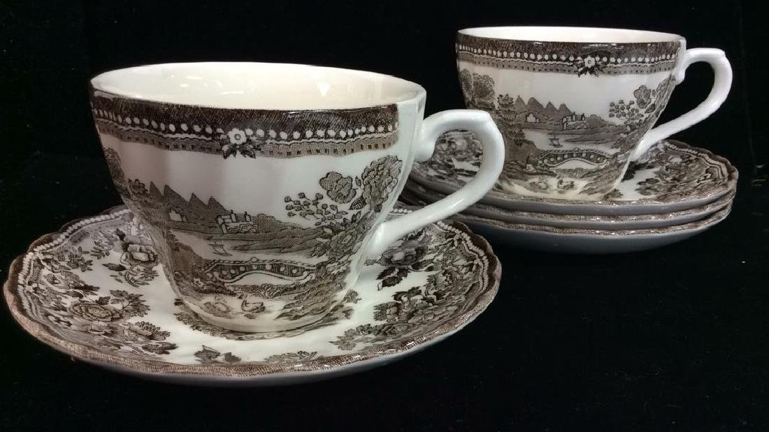 Set 6 CHURCHILL Porcelain Teacups W Saucers