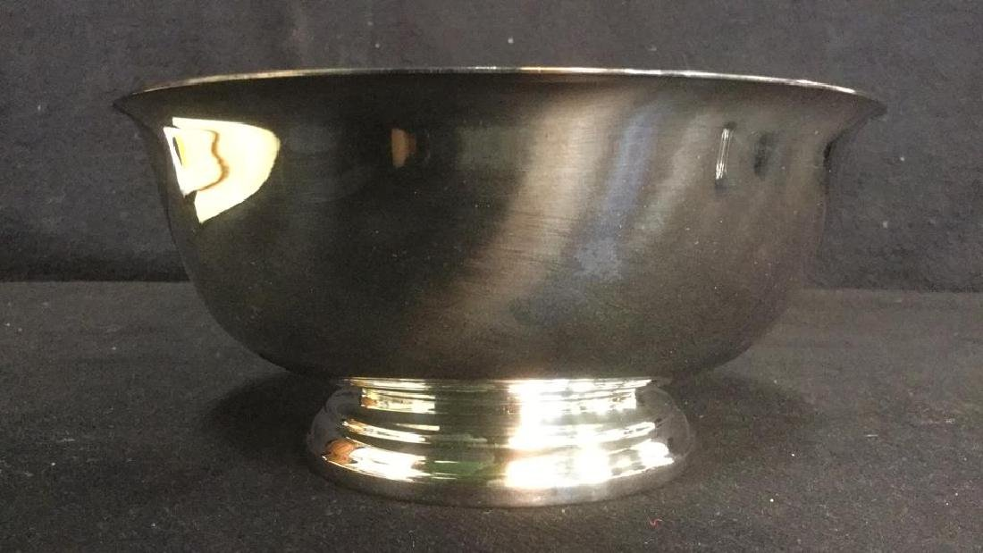 GORHAM REVERE Silver Toned Footed BOWL - 3