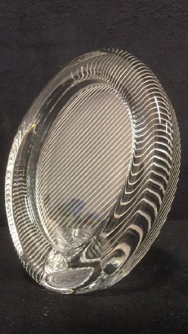 MIKASA Glass Oval Shaped Glass Picture Frame - 2