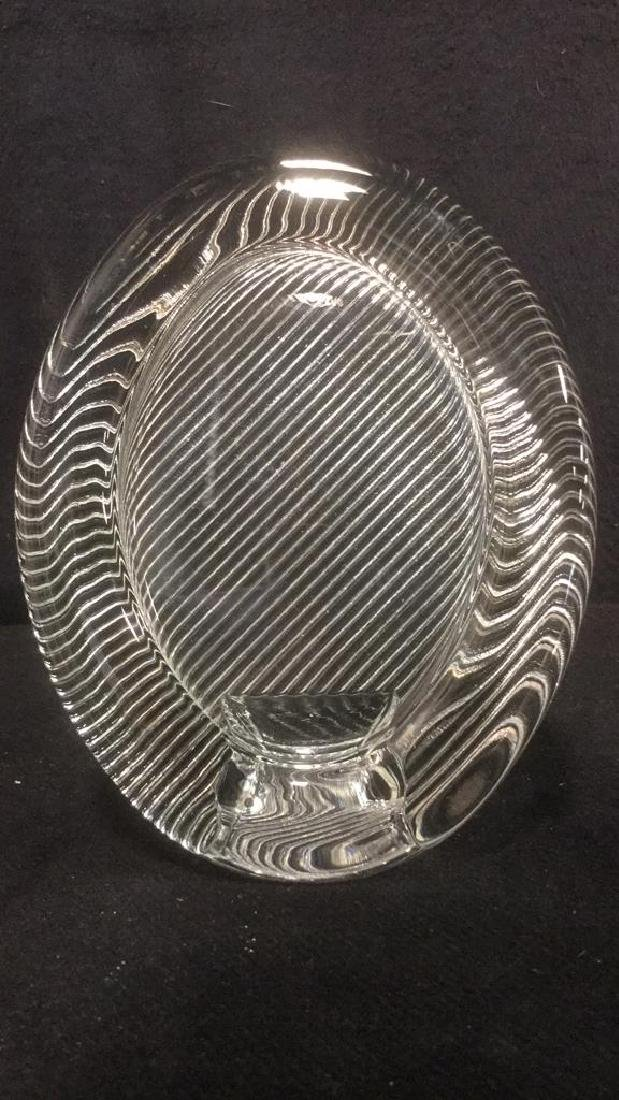 MIKASA Glass Oval Shaped Glass Picture Frame - 3