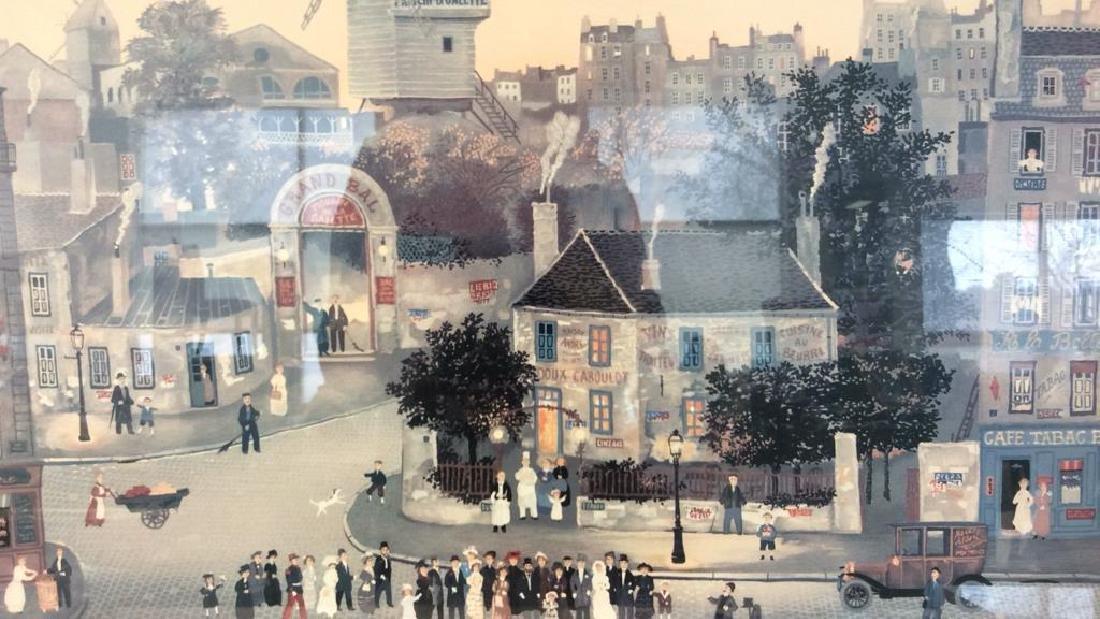 Michel Delacroix Framed Art Print City Scene - 2