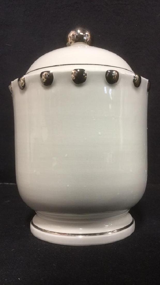 Lot 3 BLOOMINGDALES Ceramic Tabletop Accs - 2