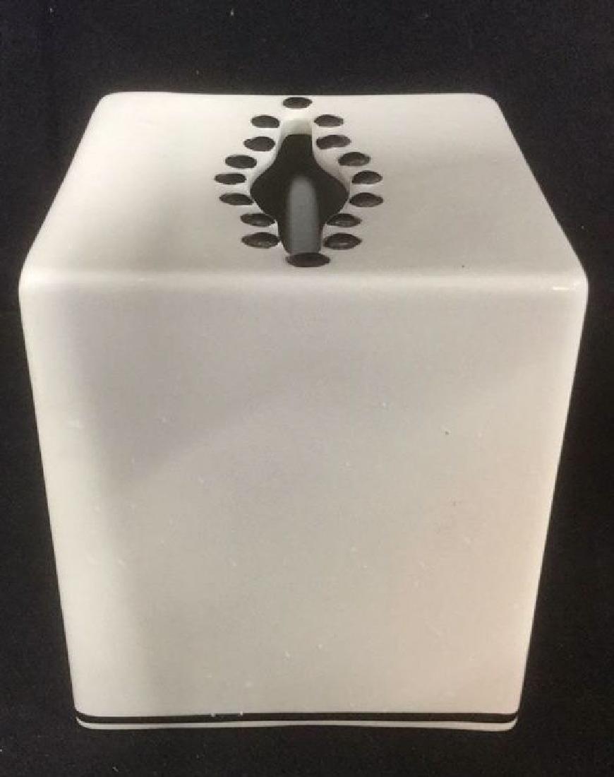Lot 3 BLOOMINGDALES Ceramic Tabletop Accs - 3