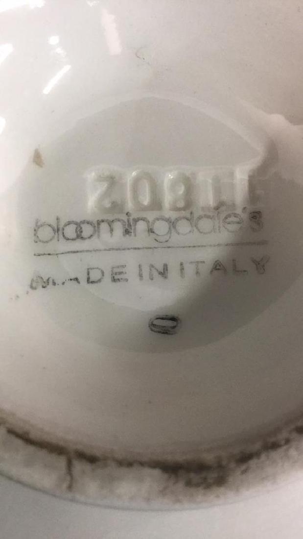 Lot 3 BLOOMINGDALES Ceramic Tabletop Accs - 5