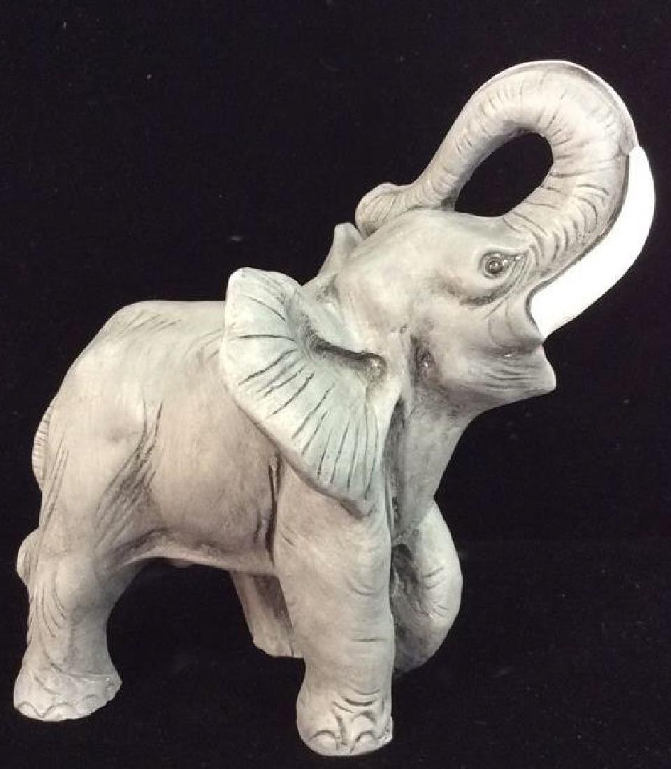 Plaster Carved Elephant Figurine - 3