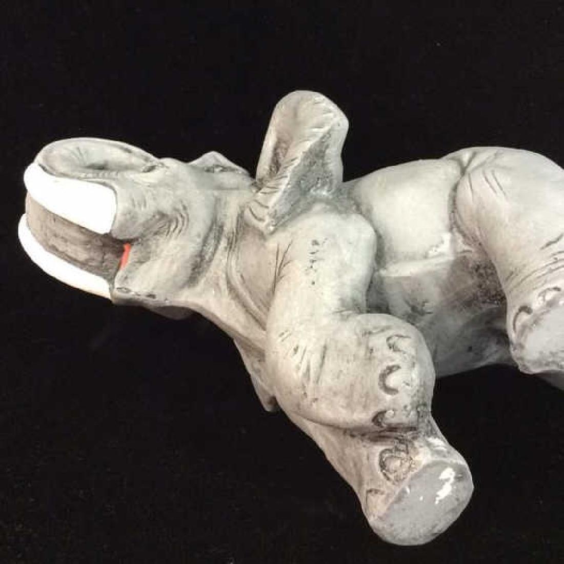 Plaster Carved Elephant Figurine - 5