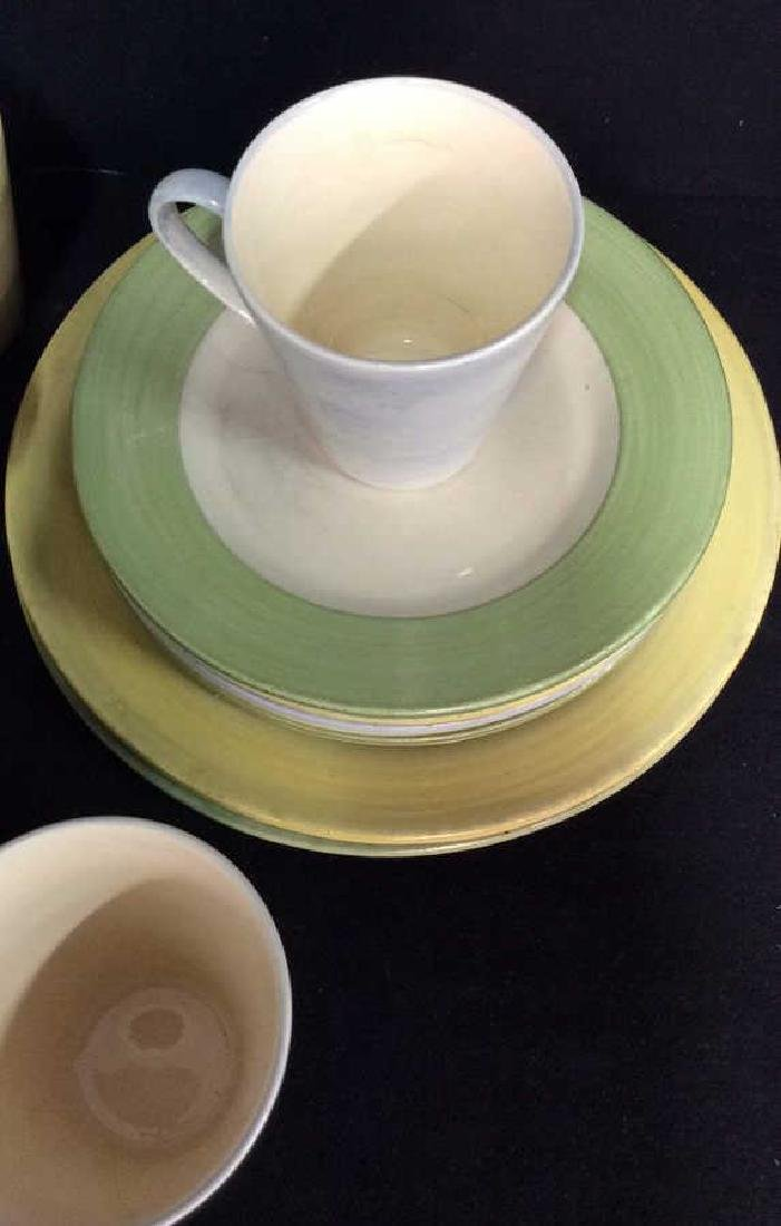 Set 17 HOLDENBY Hand Painted Mugs and Plates - 2
