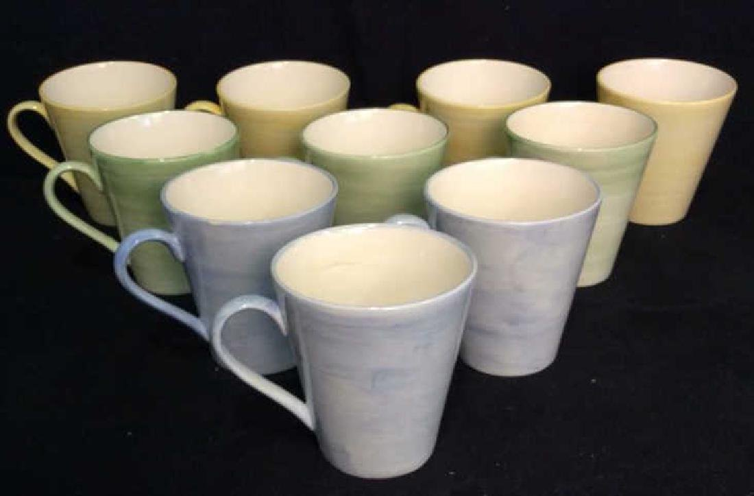 Set 17 HOLDENBY Hand Painted Mugs and Plates - 3