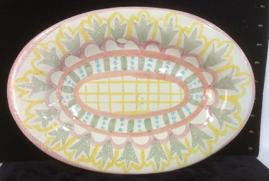 Hand Made Painted Ceramic Platter
