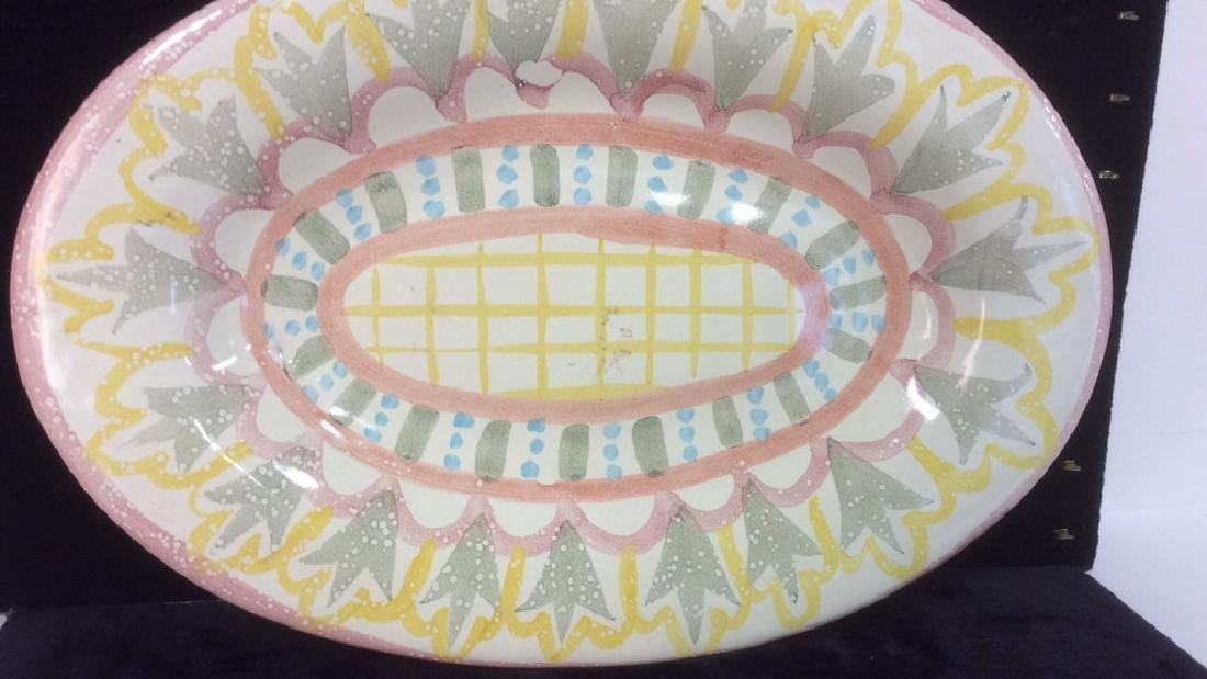 Hand Made Painted Ceramic Platter - 2