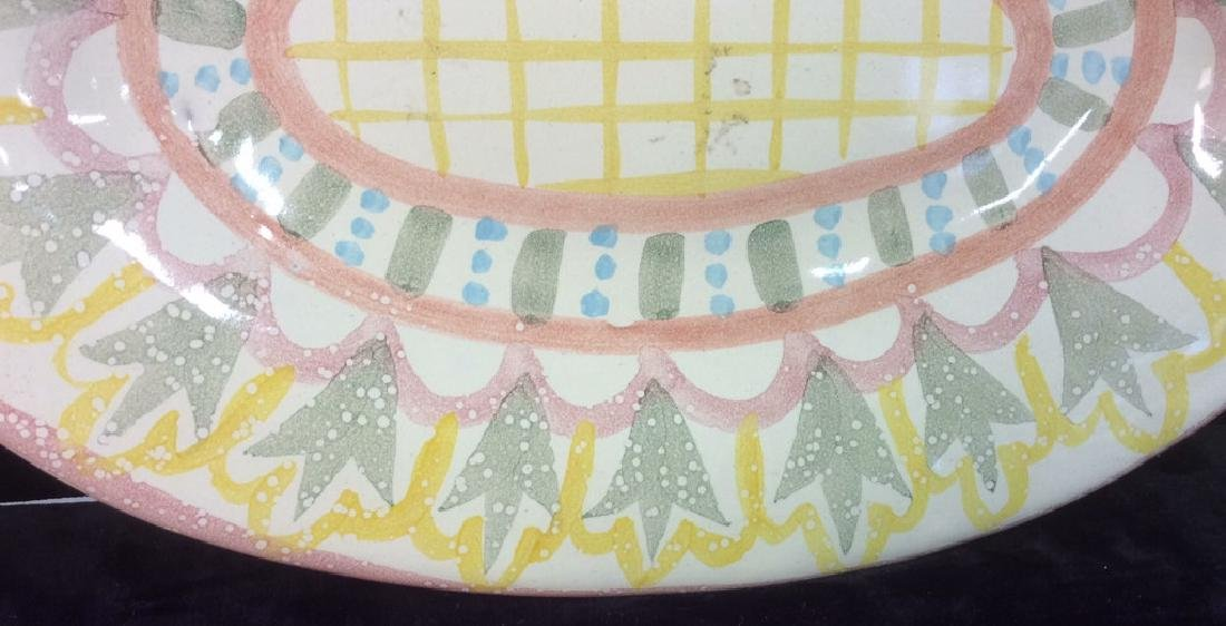 Hand Made Painted Ceramic Platter - 4