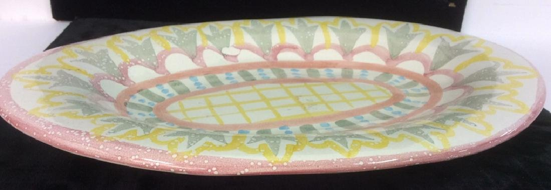 Hand Made Painted Ceramic Platter - 5