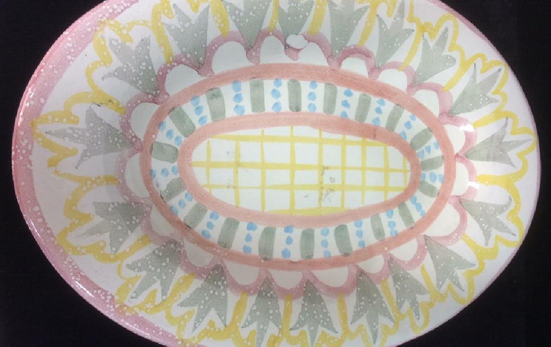 Hand Made Painted Ceramic Platter - 8