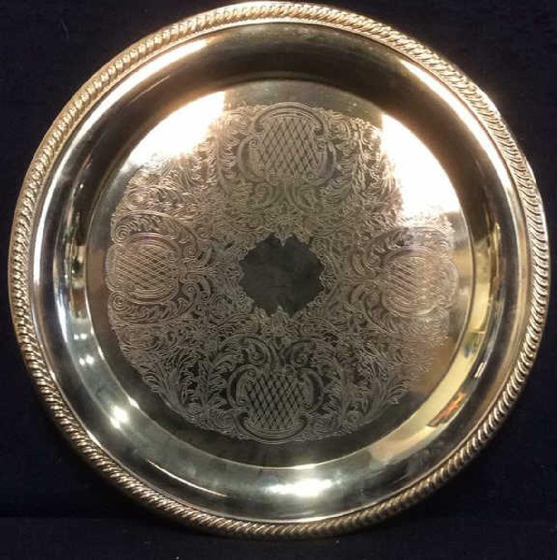 INTERNATIONAL SILVER CO Gold Toned Plated Platter