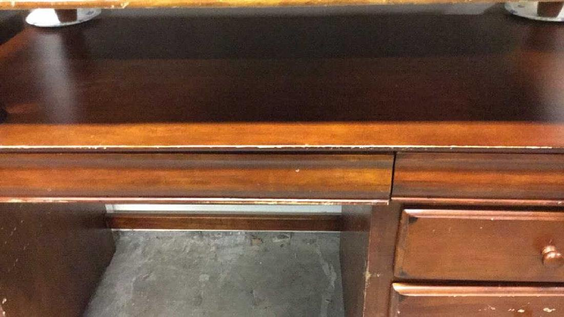 3 Drawer two tone Wood Desk - 2