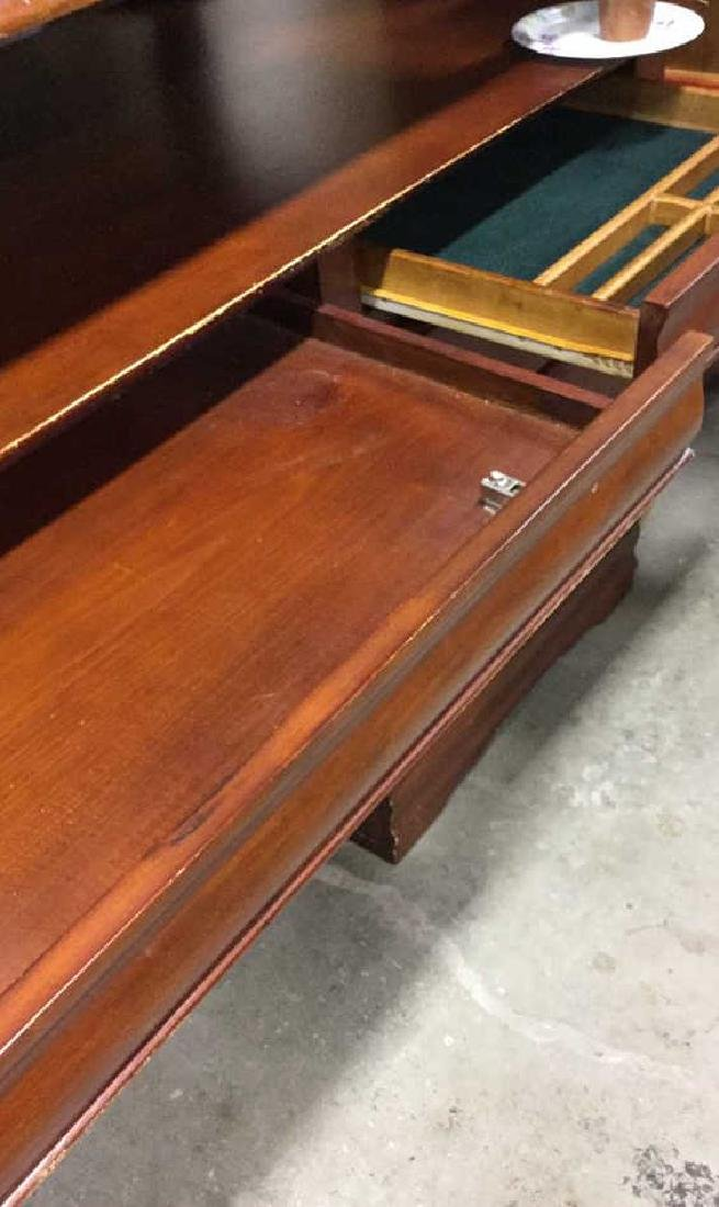 3 Drawer two tone Wood Desk - 5
