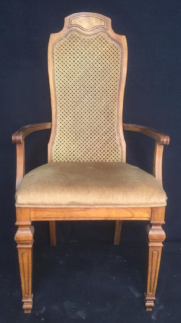 Carved Wooden Caned End Chair
