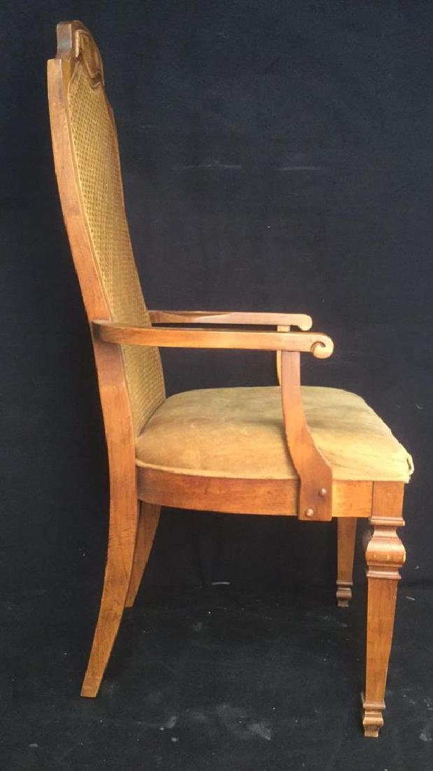 Carved Wooden Caned End Chair - 4