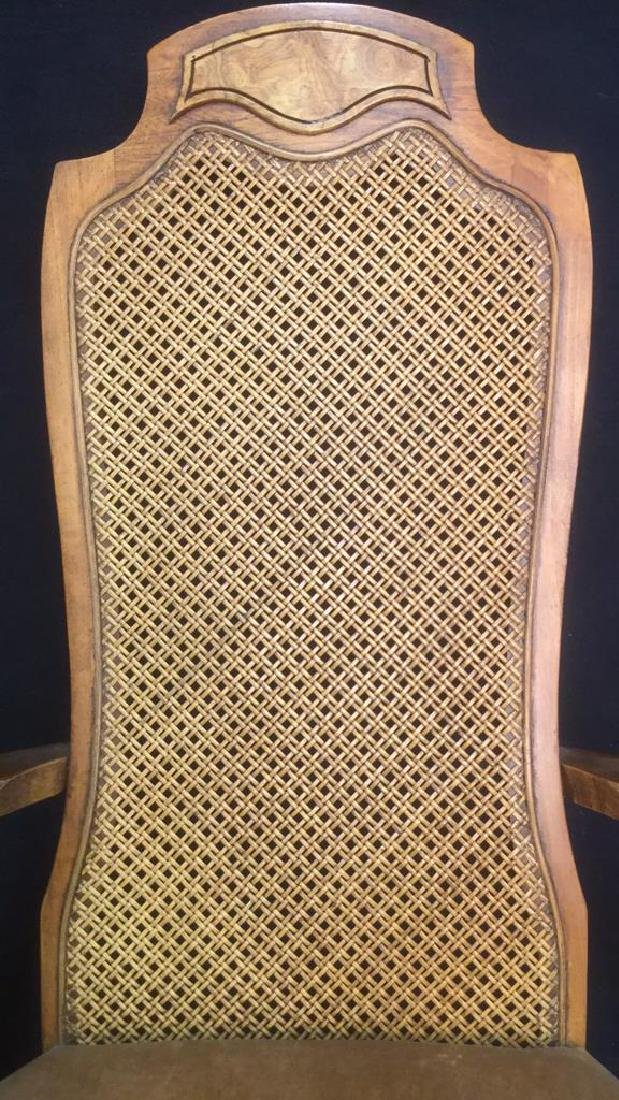 Carved Wooden Caned End Chair - 9