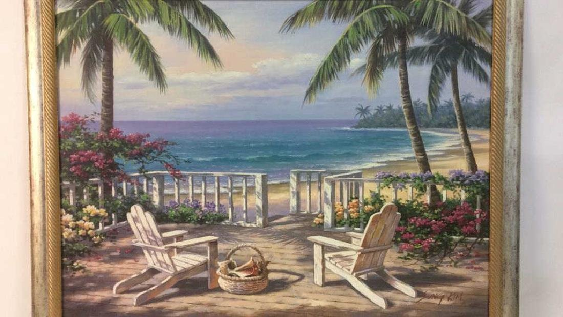 SUNG KIM Framed Beach  Print On Board - 3