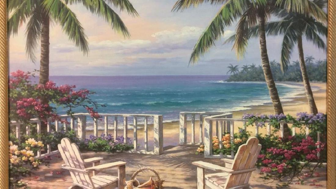 SUNG KIM Framed Beach  Print On Board - 4