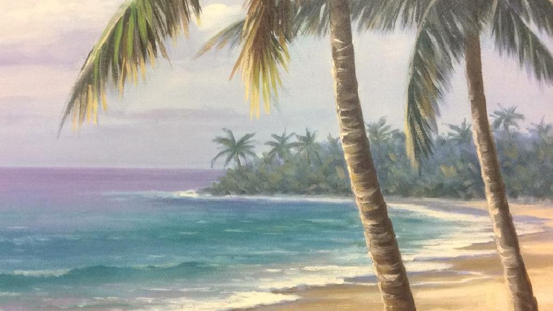 SUNG KIM Framed Beach  Print On Board - 9