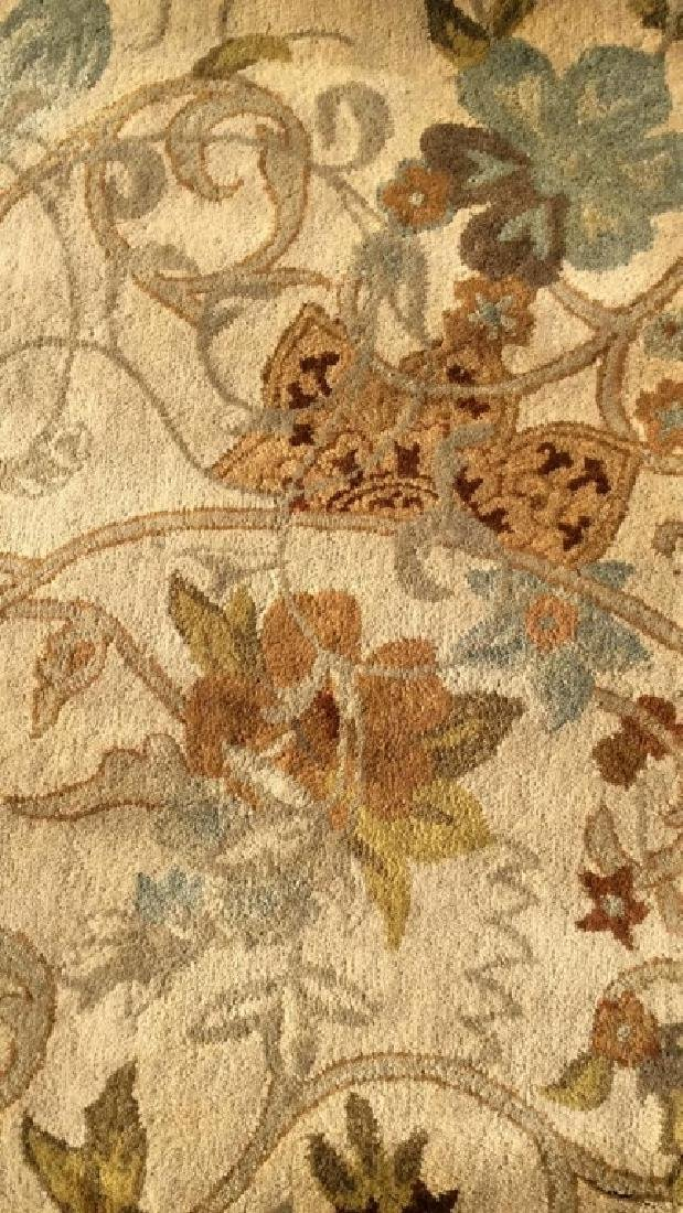 FEIZY RUGS Floral Detailed Wool Rug India - 4