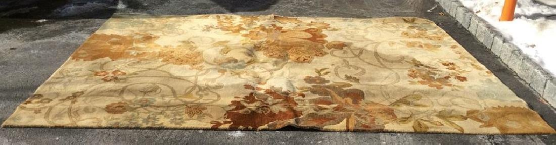 FEIZY RUGS Floral Detailed Wool Rug India - 9