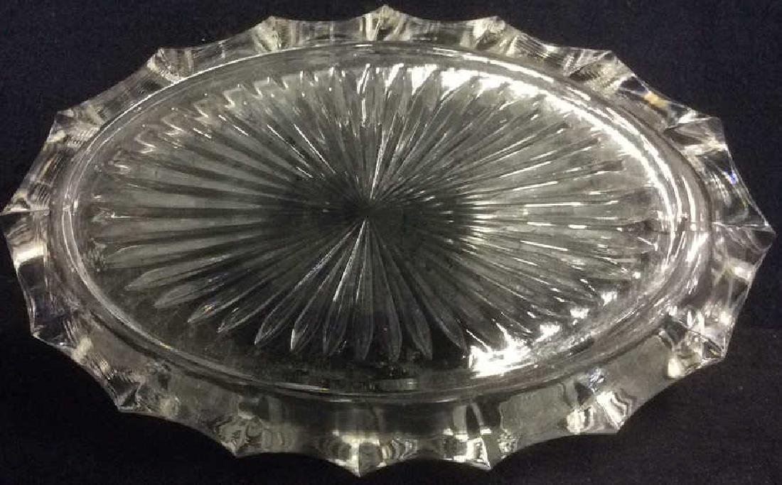 Lot 2 Oval Glass Trinket Bowls - 4