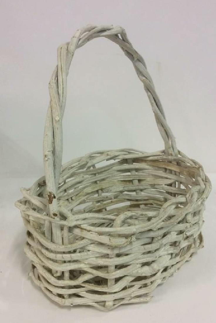 Lot 5 Wicker Baskets & More - 4