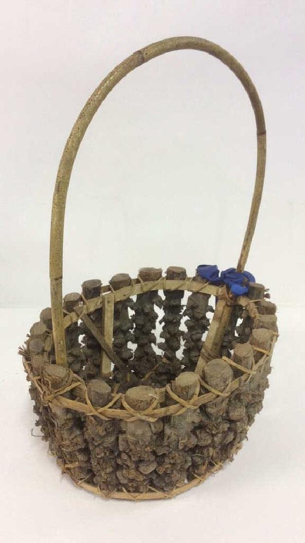 Lot 5 Wicker Baskets & More - 5