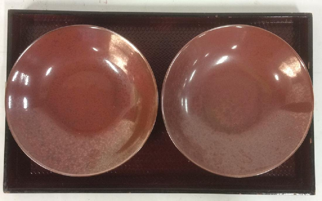 Lot 3 Pair Of Bowls & Serving Tray - 3