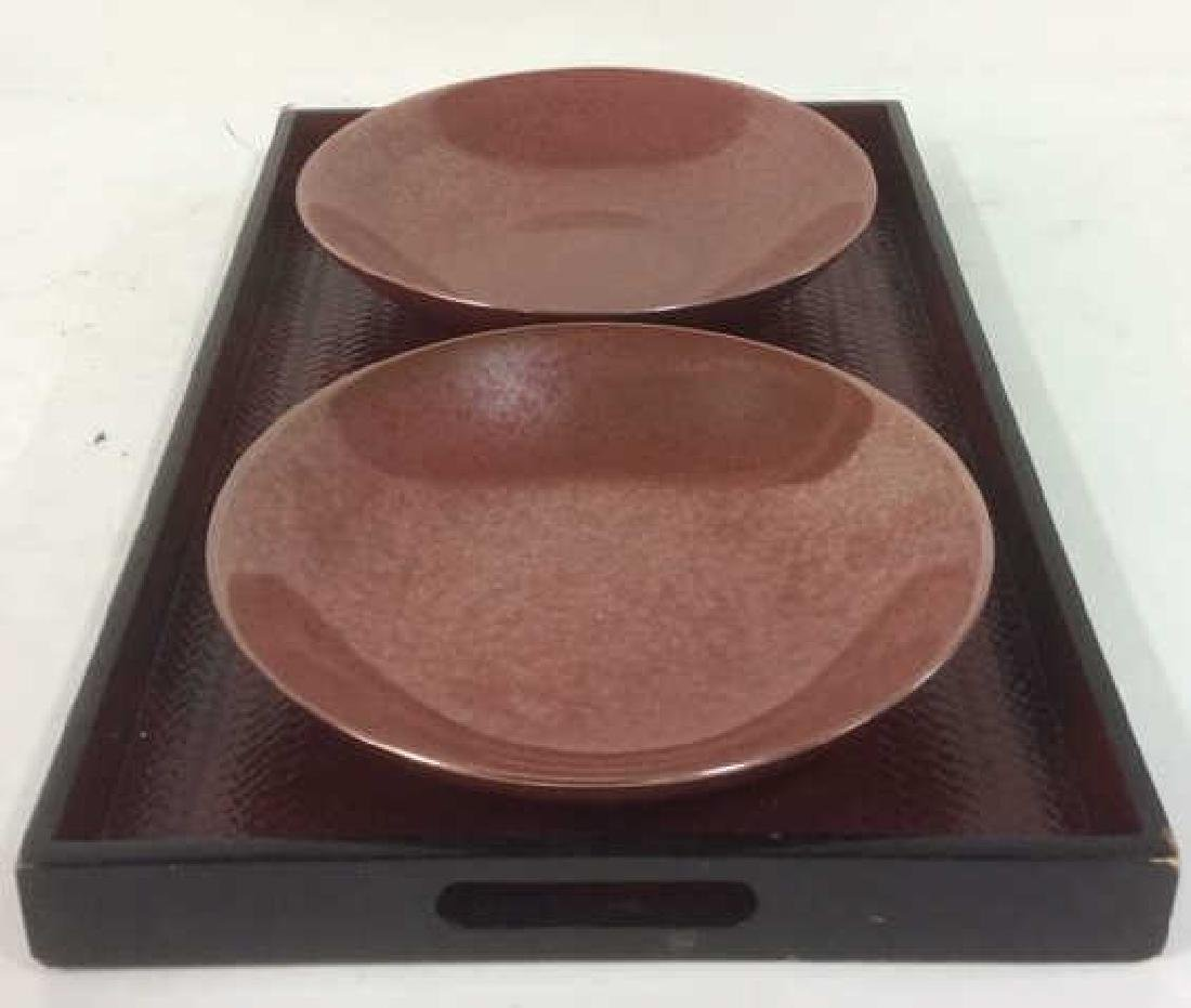 Lot 3 Pair Of Bowls & Serving Tray - 4