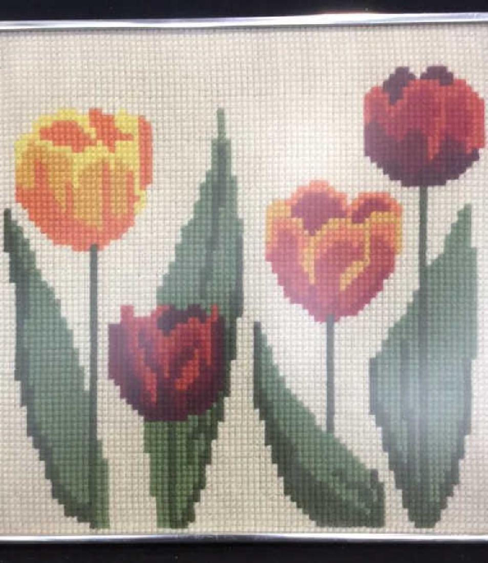 Floral Needlepoint Artwork - 2