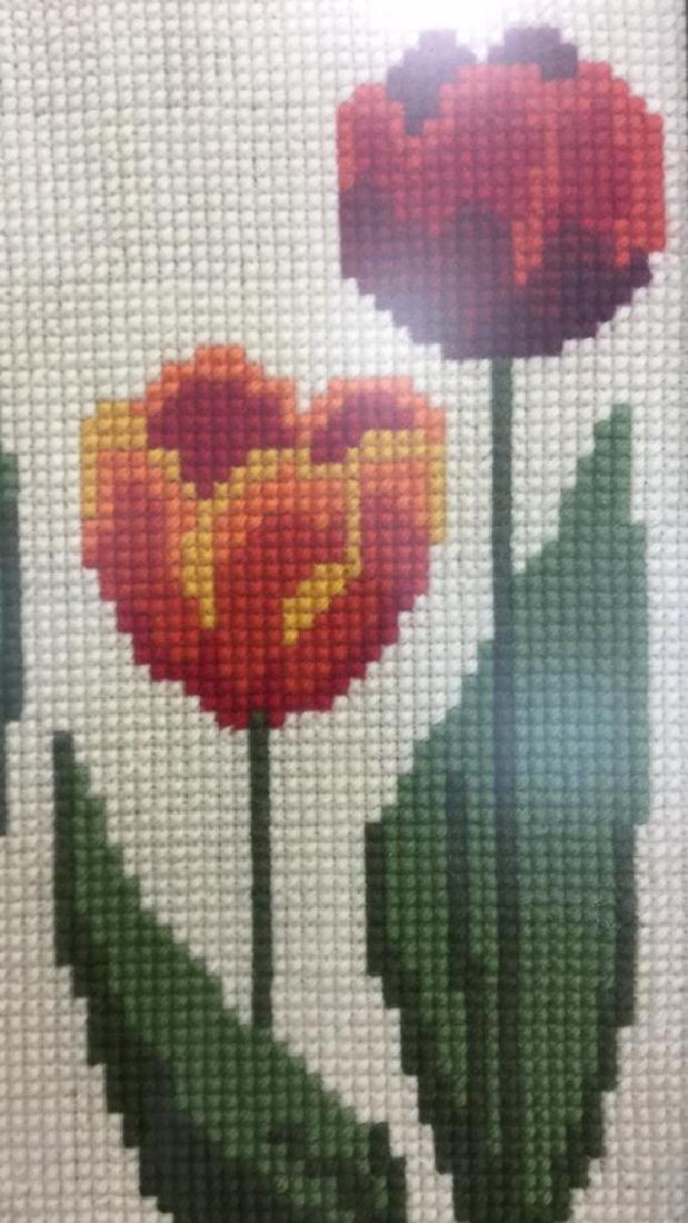 Floral Needlepoint Artwork - 4