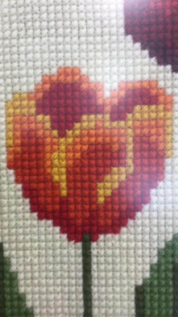 Floral Needlepoint Artwork - 5